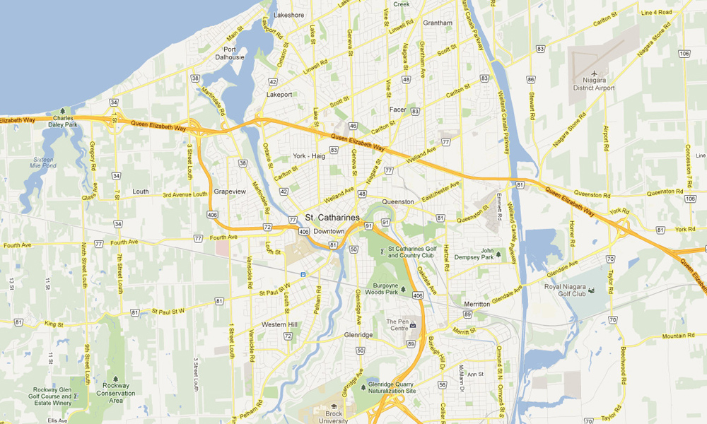 Map Of St Catharines Ontario Henley Regatta   Directions & Maps